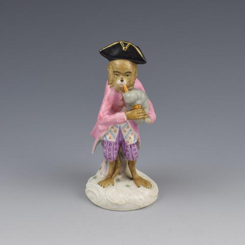 Dresden Porcelain Monkey Band Figure Bagpipes Player (1 of 7)