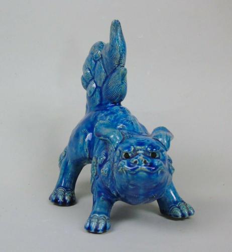 Antique Chinese Blue Glaze Kylin Fo Dog (1 of 7)