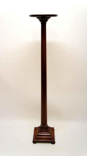 Good Quality Tall, Elegant Edwardian Mahogany Torchere, Plant Stand (1 of 7)