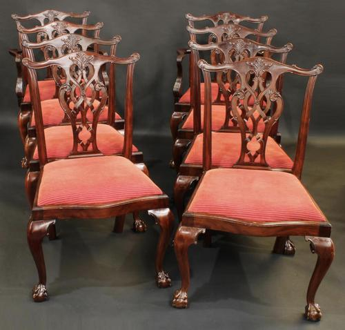 Set of Eight Oversized Dining Chairs (1 of 18)