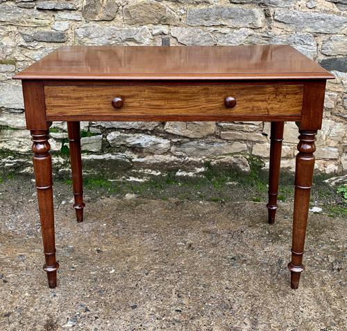 Antique Victorian Mahogany Side Table (1 of 17)