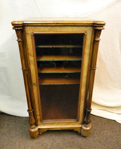 Inlaid Walnut Music Cabinet (1 of 5)