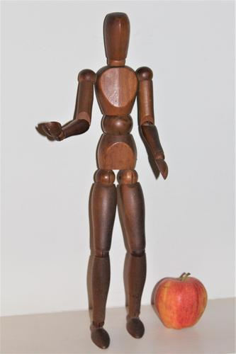 Fine artists articulated lay figure in carved wood good patina (1 of 7)