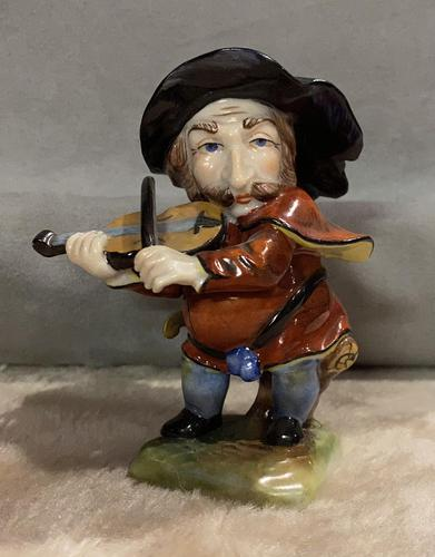 German, Dresden dwarf figure playing violin (1 of 5)