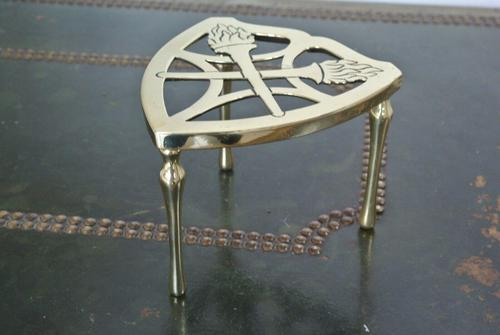 Wt&s William Tonks Brass Flaming Torch Trivet Pot Kettle Stand (1 of 3)