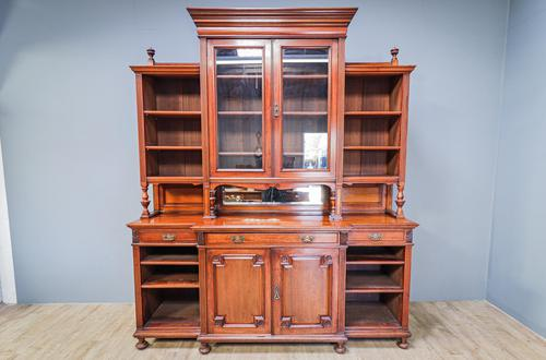 Gillow & Co Library Walnut Bookcase (1 of 15)
