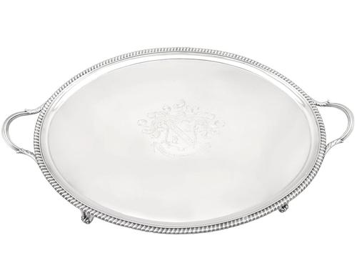 Sterling Silver Tea Tray - Antique Georgian 1806 (1 of 9)