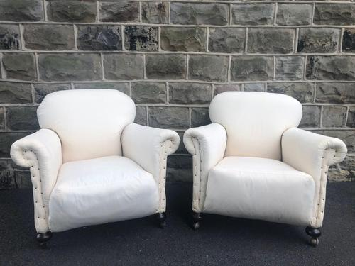 Pair of antique English armchairs for recovering (1 of 9)