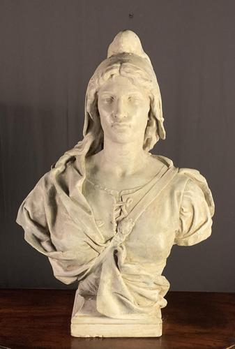 Substantial Size French Plaster Bust Marianne - Liberty (1 of 12)
