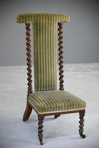 Victorian Walnut Prie Dieu Chair (1 of 11)