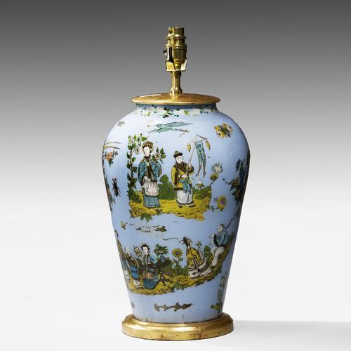 1920's Decalcomania Vase Lamp (1 of 4)