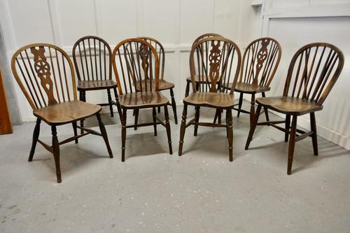 Collection of 8 Beech & Elm Country Windsor Chairs (1 of 12)