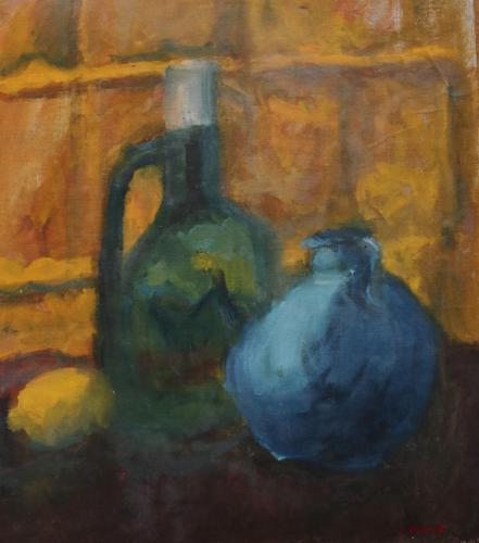 Still life with jug and lemon by Sheila Holland (1 of 5)