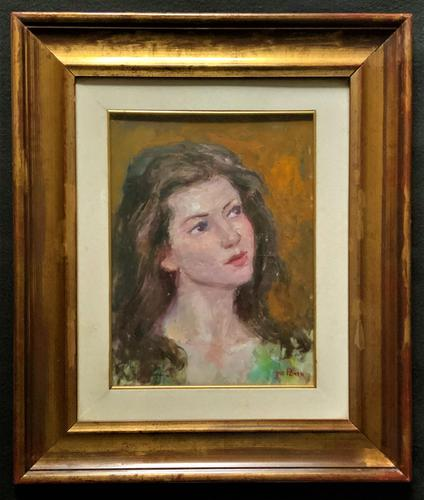 Wonderful Vintage Oil Portrait Painting of Italian Beauty from Maddalena (1 of 10)