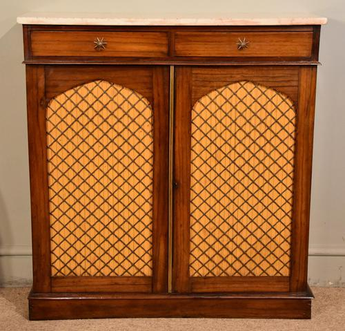Regency Goncalo Alves Chiffonier / Side Cabinet (1 of 7)