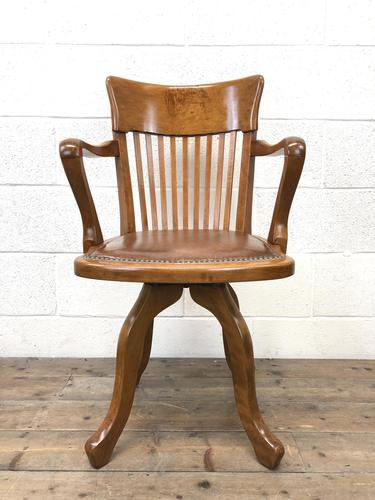 Early 20th Century Antique Swivel Desk Chair (1 of 10)
