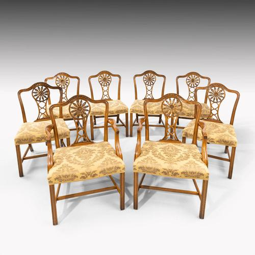 Most Elegant Set of Eight (6+2) Early 20th Century Chippendale Style Mahogany Framed Chairs (1 of 11)