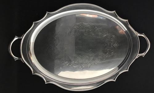 Silver Plated Two Handle Butlers Tray (1 of 3)
