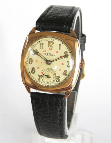 9ct Gold Rotary Wrist Watch, 1940 (1 of 6)