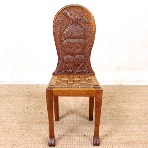 Carved Oak Eagle Chair (1 of 9)