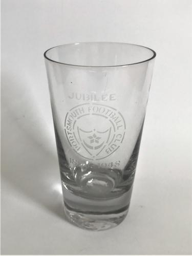 Collectable Portsmouth FC Jubilee Half Pint Beer Glass (1 of 3)