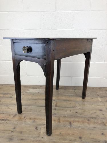 Antique Georgian Oak Side Table with Drawer (1 of 13)