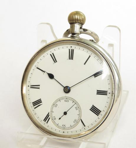 Antique silver English Lever pocket watch by Wright & Craighead (1 of 5)