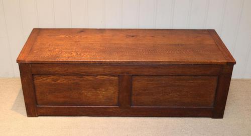 Edwardian Oak Coffer (1 of 10)