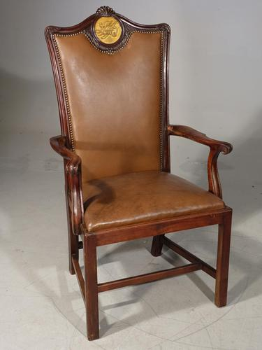 Late 19th Century Mahogany Masters Chair (1 of 8)