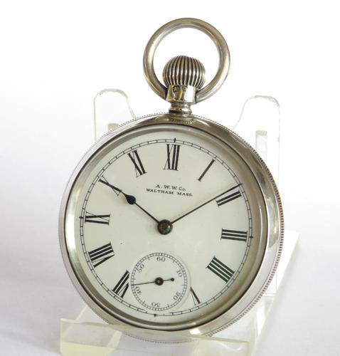 Antique Silver Waltham Bond St Pocket Watch (1 of 5)