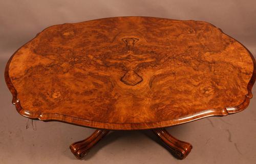 Victorian Coffee Table in Burr Walnut (1 of 9)