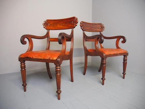 Pair of George IV Mahogany Armchairs (1 of 9)