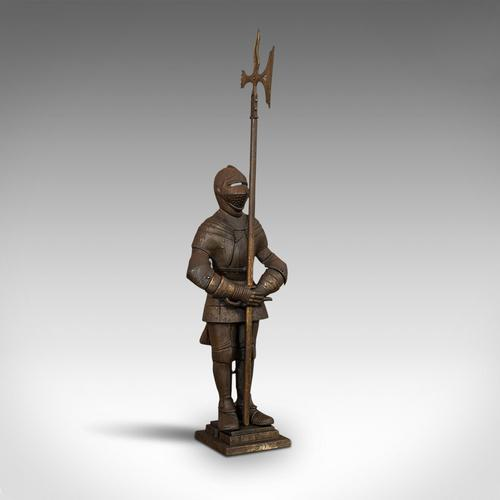 Antique Fire Companion, English, Steel, Knight, Fireside Tools, Victorian, 1900 (1 of 11)