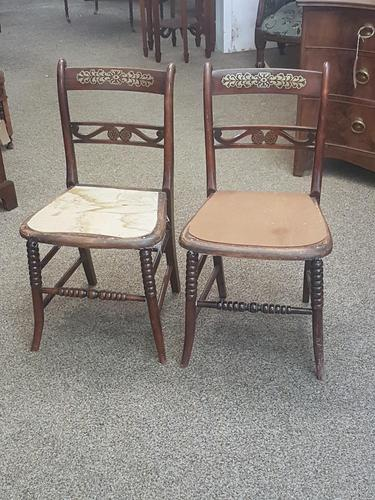 Pair of Brass Inlaid Chairs (1 of 9)