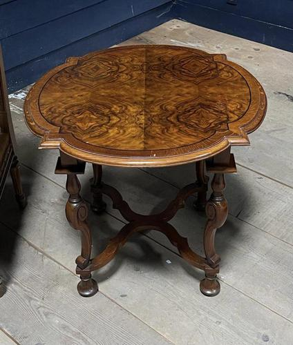 Pretty Walnut Carolean Coffee or Lamp Table (1 of 10)