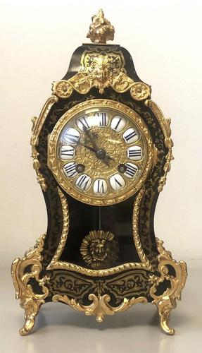 19th Century French Boulle & Ormolu Mantel Clock (1 of 4)