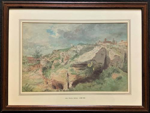 John Charles Denham (Exh.1796-1858) Fine Original Landscape watercolour Painting (1 of 13)