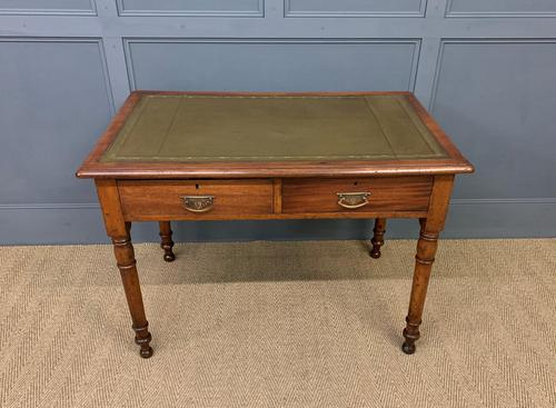 Victorian Mahogany Two Drawer Writing Table (1 of 11)