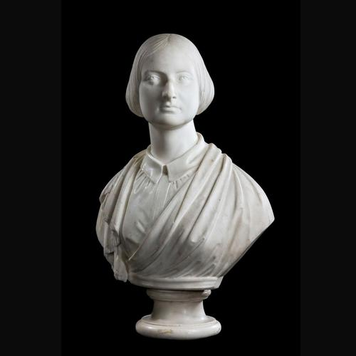 Mid 19th Century  Bust of a Young Female (1 of 5)