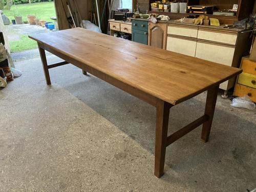 French Three Plank Cherry Wood Table (1 of 6)