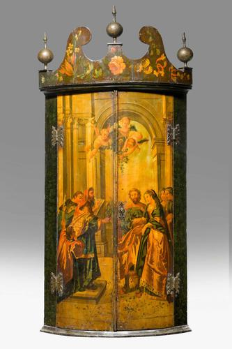 Late 18th Century Dutch Painted Corner Cupboard (1 of 7)