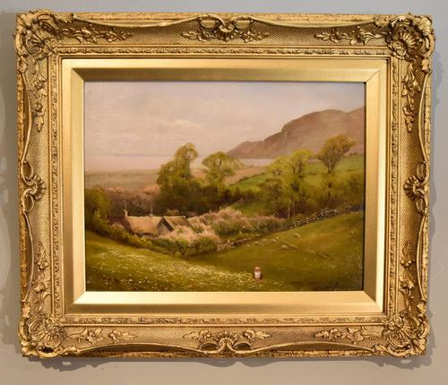 "Oil Painting by Walter Henry Goldsmith ""Springtime, Porlock, Somerset"" (1 of 6)"