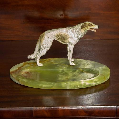 Cold Painted Bronze Borzoi Desk Companion (1 of 7)