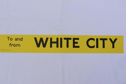London Transport Slipboard Poster for White City (1 of 1)