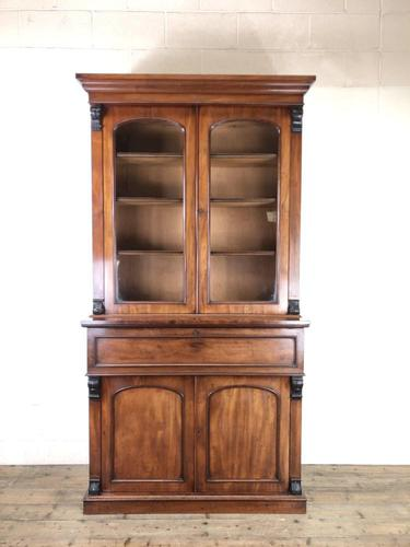 Victorian Mahogany Secretaire Bookcase (1 of 12)