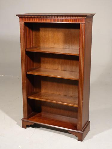Attractive Edwardian Open Bookcase (1 of 4)