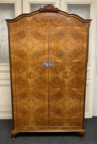 Burr Walnut 2 Door Wardrobe (1 of 9)