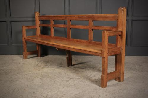 Solid Oak Arts & Crafts Bench (1 of 15)