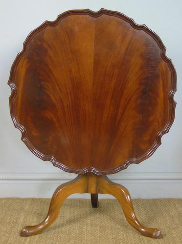 Antique Tip Top Flame Mahogany Table (1 of 5)