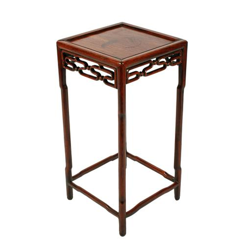 Late 19th Century Chinese Rosewood Stand (1 of 8)